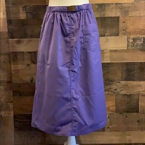 Vintage 80s Sasson Purple Midi Length A-Line Skirt
